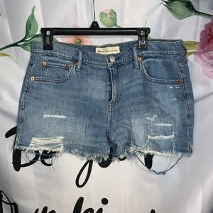 "GAP Distressed ""Girlfriend"" Denim shorts"
